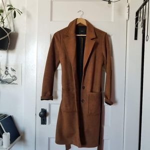 Forever 21 Faux Suede Coat